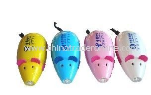 Small rechargeable flashlight rats