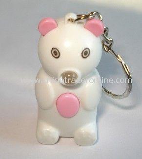 Winnie the flashlight key ring