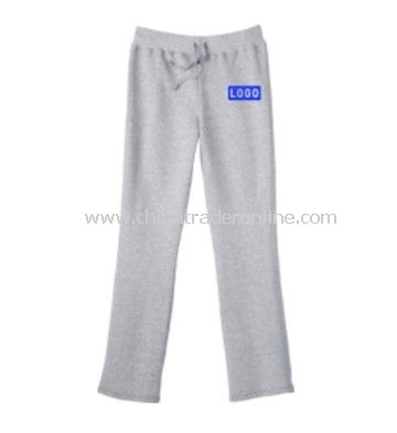 Ladies Fleece Pants, Light Steel