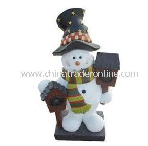 Solar Snow Man Light, Solar Resin Light, Solar Sculpture Light, Solar Decorative Light