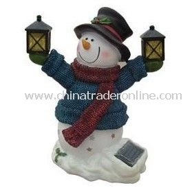 Solar Snow Man Light, Solar Resin Light, Solar Sculpture Light