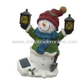 Solar Snow Man Light, Solar Resin Light