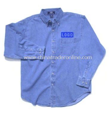 Denim Shirt - Vantage Woodbridge Long Sleeve