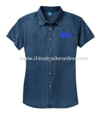 Ladies Short Sleeve Value Denim Shirt