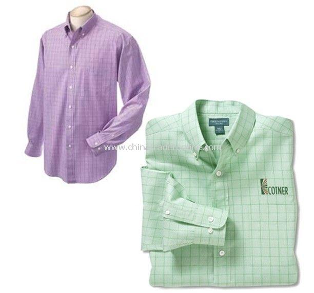Long-sleeved Plaid Shirt - Chestnut Hill Mens