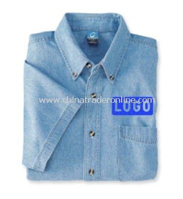 Port & Company Short-Sleeved Value Cotton Denim Shirt