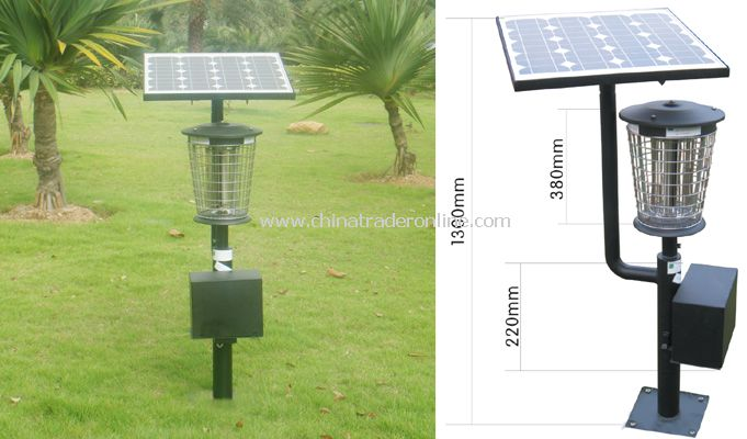 Solar outdoor anti- mosquito lamps(luxurious double optical frequency vibration)