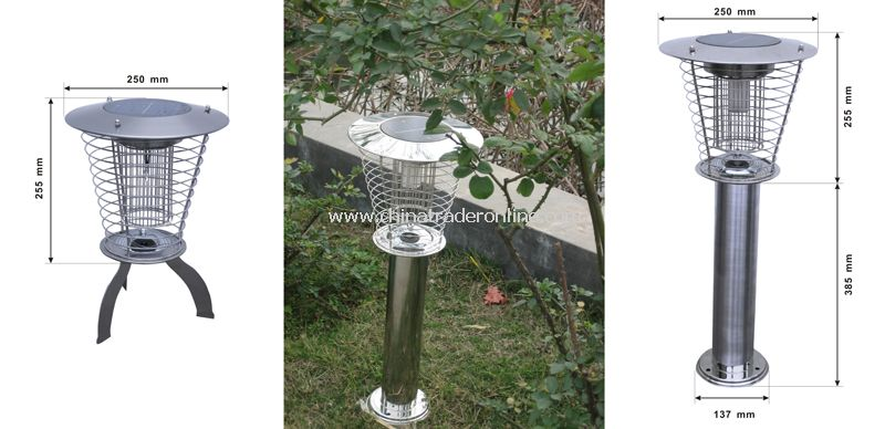 Solar outdoor anti- mosquito lamps(ornate and kill mosquitoes)