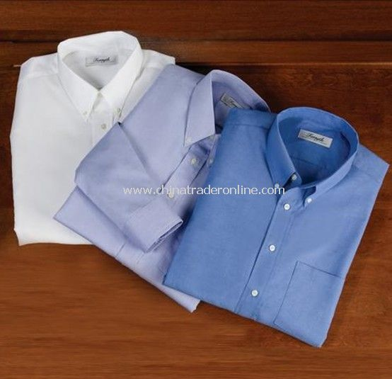 Solid Oxford Long-Sleeved Sport Shirt