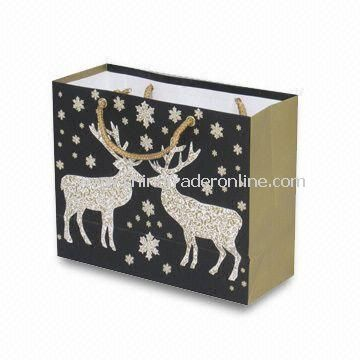 Christmas Paper Bag, Eco-friendly, Customized Logos and Designs are Accepted