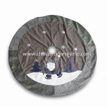 42-inch Christmas Tree Skirt, Available in Gray