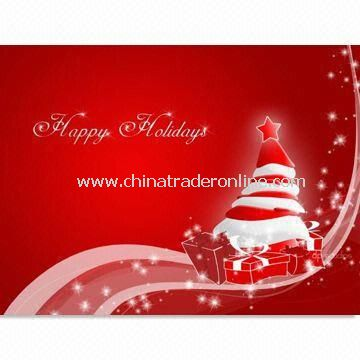 Christmas Card for Decoration Purposes with Hang Tags