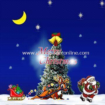 Christmas Greeting Card with UV Varnish Surface Finish and Fashionable Design