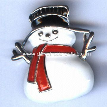 Christmas Ornaments/Brooch, Available in Various Designs, Made of Alloy and Epoxy
