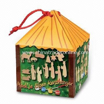 Christmas Packing Case with Christmas Picture on it, Customized Logos are Accepted
