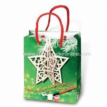 Christmas Paper Carrier Bag in Various Sizes, Customized Logos and Designs are Welcome