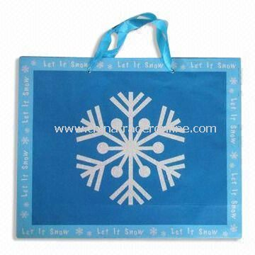 Christmas Shopping Bag, Made of 128g Art Paper, Measures 410 x 330mm