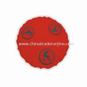 Christmas Tree Skirt, Available in Red, Made of Non-woven Fabric