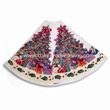 Christmas Tree Skirt, Made of 35% Polyester and 65% Cotton, Available in Various Designs