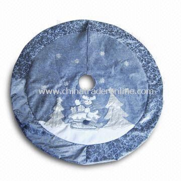 Christmas Tree Skirt with 42 Inches Size, Available in Silver or Gray Color