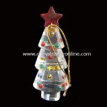 Crystal Christmas Ornament, Available in Various Designs