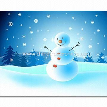 Fashionable Christmas Greeting Card with UV Varnish Surface Finish