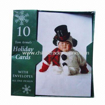 Greeting Cards with Paper Box Packing, Available in Various Sizes and Designs