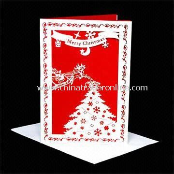 Laser/Greeting Card in Christmas Tree Design