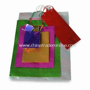 Paper Bags with Laser Lamination, Suitable for Promotions and Shopping Purpose