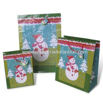 Paper Gift Bags, Available in Christmas Style, Customized Designs are Accepted