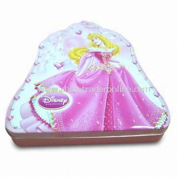 Christmas Princess Tin, Made of 0.23mm Thickness First Class Tin Plate, for Promotion