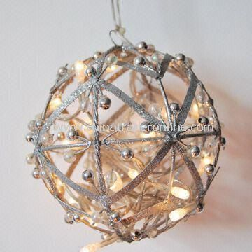 Ball Shaped Decorative Light with Clear Wire, Suitable for Christmas and Holiday Use