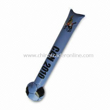 Cheering Stick/Inflatable Stick, Measuring 60 x 10cm, Made of Polyethylene from China