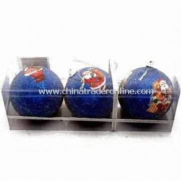 EPS Foam Christmas Balls, OEM orders are Welcome