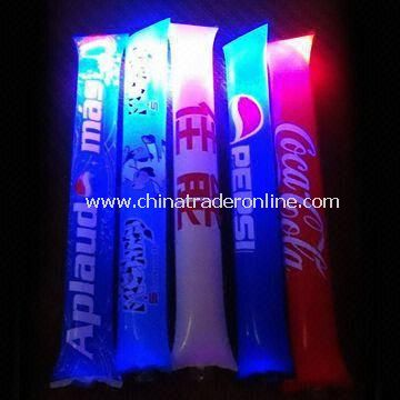 Inflatable Lighting/Advertising/Bang Bang Sticks, Made of PE, Measures 10 x 60cm