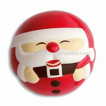 Santa Claus-shaped Stress Ball, Made of PU Foam, Suitable for Christmas Gift