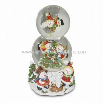 Snow Globe in Cute Design for Xmas, Available in Various Diameters and Designs