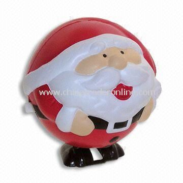 Stress Ball in Santa Claus Shape, Made of PU, Suitable for Christmas Gift