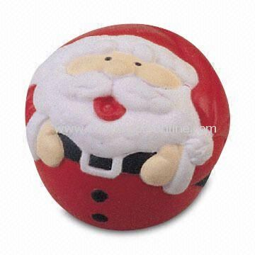 Stress Ball in Santa Claus Shape, Made of PU Foam, Ideal for Christmas Gift