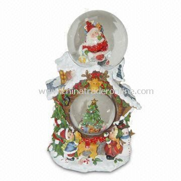 Xmas Snow Globe, Made of Polyresin, Available in Various Designs