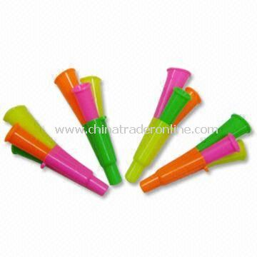 Attractive Whistles, Various Colors are Available, Made of Plastic