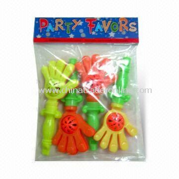 Clap Plastic Whistles, Attractive, Various Colors, Dimensions and Logos are Available