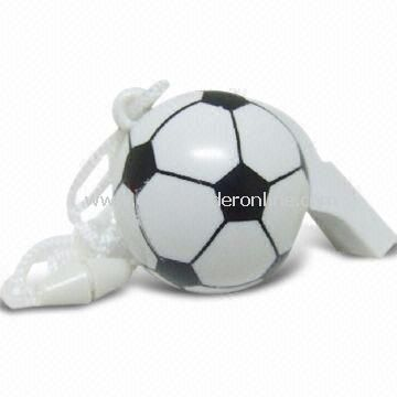Football Fun Love Whistle, Available in Various Colors, Styles, Dimensions, and Logos