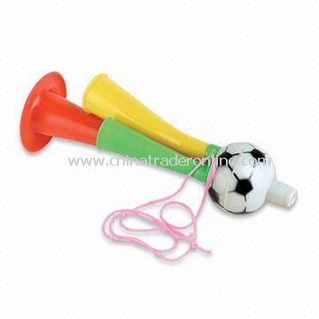 Plastic/Cheer/Football Whistle, Available in Red, Yellow and Green