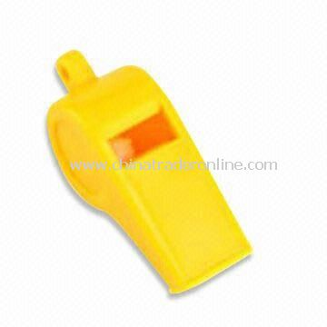Tourist Whistle, Available in Yellow, Made of Plastic from China