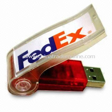 Whistle Style USB Flash Drive with 64MB to 4GB Capacity, Compatible USB 1.1 and 2.0 from China
