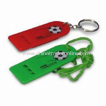 Whistles with Key Ring, Available in Various Colors, Styles, Dimensions, and Logos