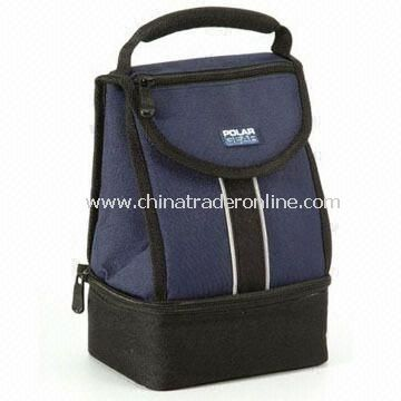 Nylon Cooler Bag with Plastic Lunch Box Inside