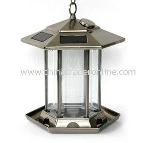 Solar Bird feeder monocrystal or polycrystal solar panel