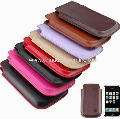 8 PCS Genuine Leather Case cover for iPhone 3G 8G 16GB
